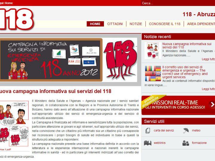 portale 118 Abruzzo