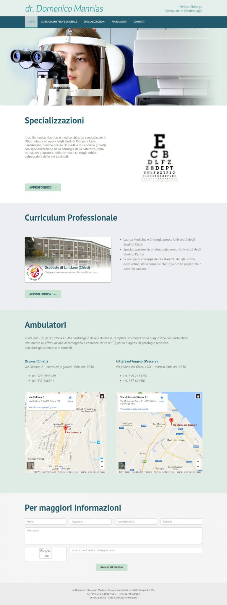 sito web oculista