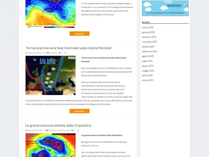 MeteoSpot Previsioni meteo tendenze e curiosità